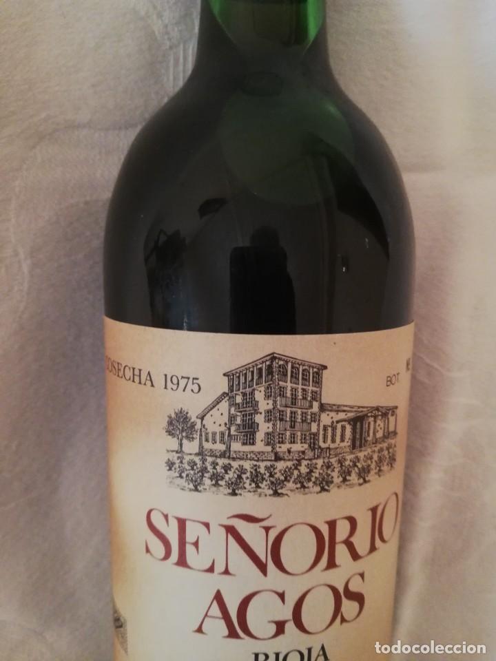 Coleccionismo de vinos y licores: BOTELLA DE VINO BODEGAS LOPEZ AGOS Y CIA FUENMAYOR (LA RIOJA)-1975-RESERVA - Foto 3 - 226490530