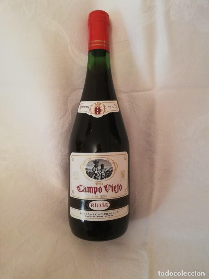 LOTE DE 4 BOTELLAS DE VINO BODEGAS CAMPO VIEJO -1970-CRIANZA (Coleccionismo - Botellas y Bebidas - Vinos, Licores y Aguardientes)