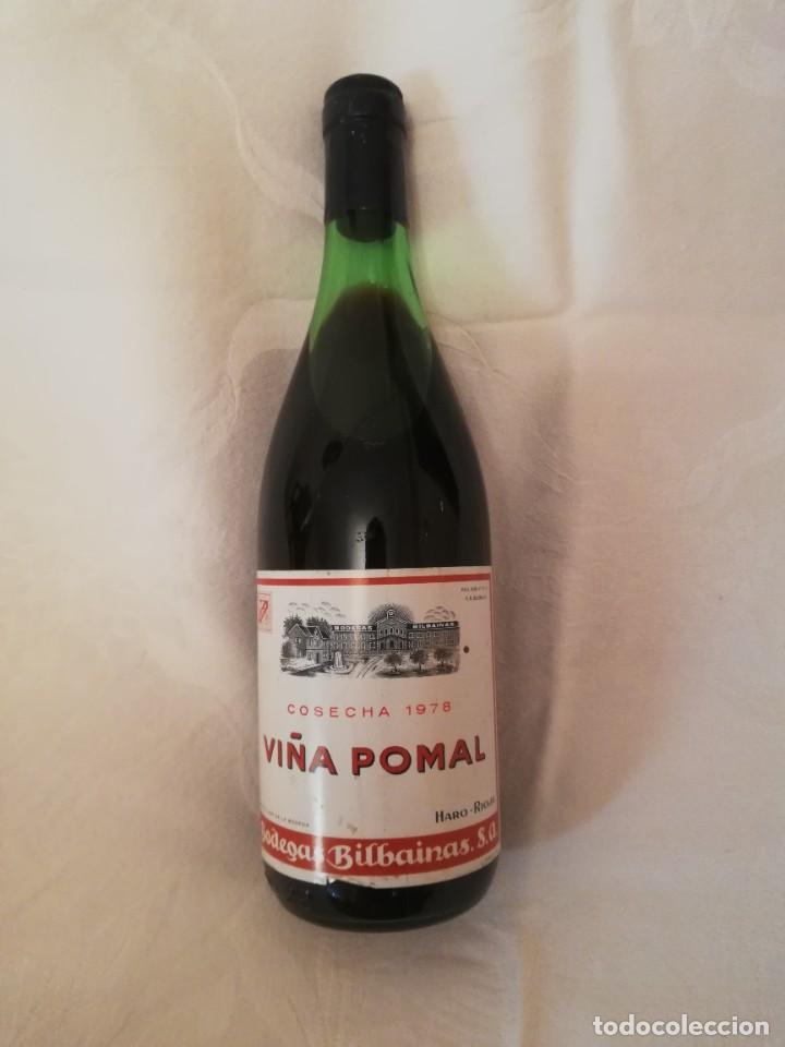 BOTELLA DE VINO BODEGAS BILBAINAS -VIÑA POMAL -1978-CRIANZA (Coleccionismo - Botellas y Bebidas - Vinos, Licores y Aguardientes)