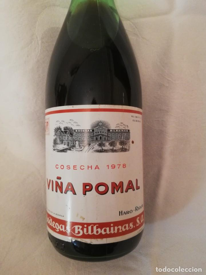 Coleccionismo de vinos y licores: BOTELLA DE VINO BODEGAS BILBAINAS -VIÑA POMAL -1978-CRIANZA - Foto 2 - 226493270