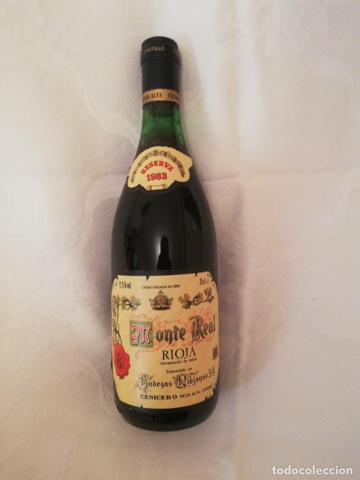 BOTELLA DE VINO BODEGAS RIOJANAS,S.A. -MONTE REAL -1983-RESERVA (Coleccionismo - Botellas y Bebidas - Vinos, Licores y Aguardientes)