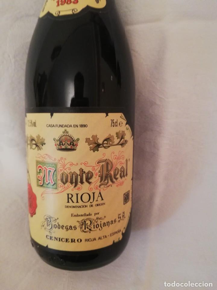 Coleccionismo de vinos y licores: BOTELLA DE VINO BODEGAS RIOJANAS,S.A. -MONTE REAL -1983-RESERVA - Foto 2 - 226497706