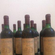 Coleccionismo de vinos y licores: 12 BOTELLAS DE VINO TINTO RIOJA VIÑA HERMINIA LAGUNILLA RESERVA 1982. FUENMAYOR.. Lote 228566625
