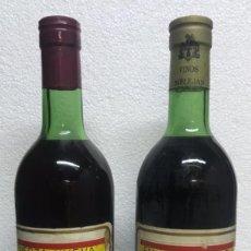 Coleccionismo de vinos y licores: DOS BOTELLAS DE VINO FALANGE ESPAÑOLA Y FUERZA NUEVA. Lote 229129560