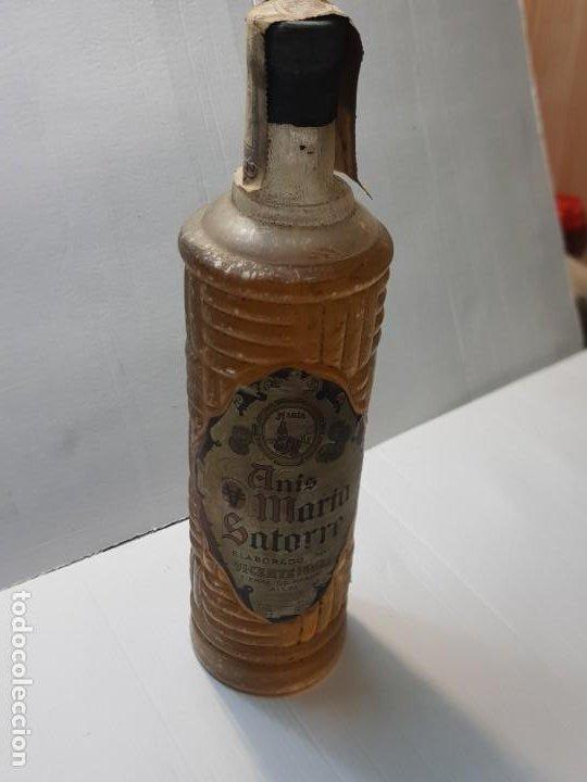 BOTELLA DE ANIS MARÍA SATORRE DE VICENTE IGUAL PRECINTADA SIERRA MARIOLA ALCOY AÑOS 40-50 IMPOSIBLE (Coleccionismo - Botellas y Bebidas - Vinos, Licores y Aguardientes)