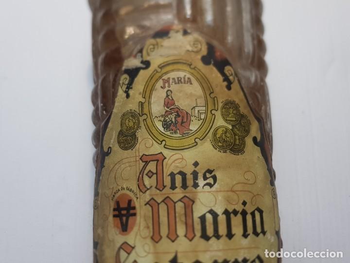 Coleccionismo de vinos y licores: Botella de Anis María Satorre de Vicente Igual precintada Sierra Mariola Alcoy años 40-50 imposible - Foto 7 - 231027990