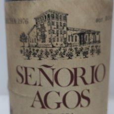 Coleccionismo de vinos y licores: ANTIGUA BOTELLA RIOJA SEÑORÍO AGOS 1976 RESERVA BOTELLA NUMERADA.FUENMAYOR.. Lote 232578125