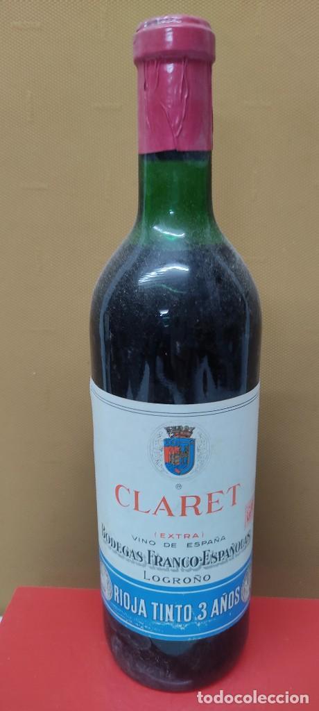 Coleccionismo de vinos y licores: ANTIGUA BOTELLA VINO CLARET DE BODEGAS FRANCO ESPAÑOLAS.RIOJA TINTO 3 AÑOS - Foto 2 - 233482170