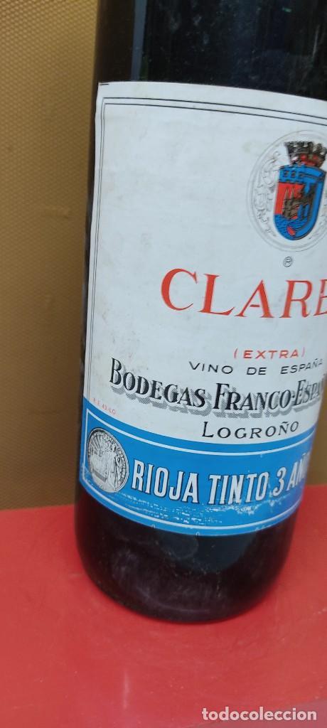 Coleccionismo de vinos y licores: ANTIGUA BOTELLA VINO CLARET DE BODEGAS FRANCO ESPAÑOLAS.RIOJA TINTO 3 AÑOS - Foto 4 - 233482170