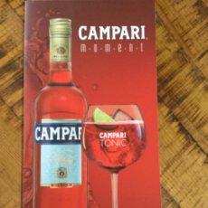 Coleccionismo de vinos y licores: CAMPARI TONIC -APEROL SPRITZ - CARTA DE TRAGOS DE CARTÓN BLANDO - APERITIVO ITALIANO. Lote 233673010