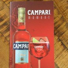 Coleccionismo de vinos y licores: CAMPARI TONIC -APEROL SPRITZ - CARTA DE TRAGOS DE CARTÓN BLANDO - APERITIVO ITALIANO. Lote 233674090