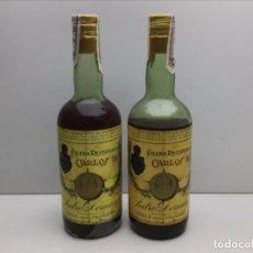 Coleccionismo de vinos y licores: LOTE BOTELLAS BRANDY CARLOS III - SOLERA RESERVADA - PRECINTO DOMECQ 80 CTS. Lote 234937325