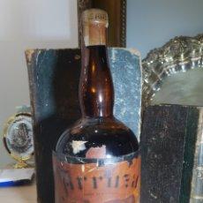 Coleccionismo de vinos y licores: ANTIGUA BOTELLA DE ANIS ARRUZA . RUTE . LLENA Y PRECINTADA. Lote 235288345