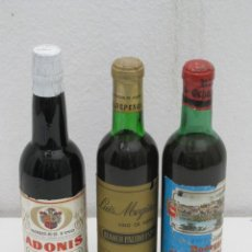 Coleccionismo de vinos y licores: LOTE DE 3 BOTELLAS DE VINO SIN FECHA DEFINIDA.. Lote 236215635