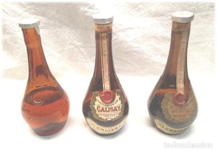 CALISAY DESTILERÍAS MOLLFULLEDA FERROQUINA ARENYS, 3 BOTELLINES. MED. 15 CM (Coleccionismo - Botellas y Bebidas - Vinos, Licores y Aguardientes)