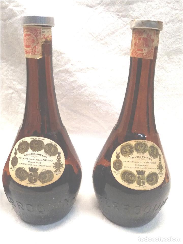Coleccionismo de vinos y licores: Calisay destilerías Mollfulleda Ferroquina Arenys, 3 Botellines. Med. 15 cm - Foto 4 - 236494395