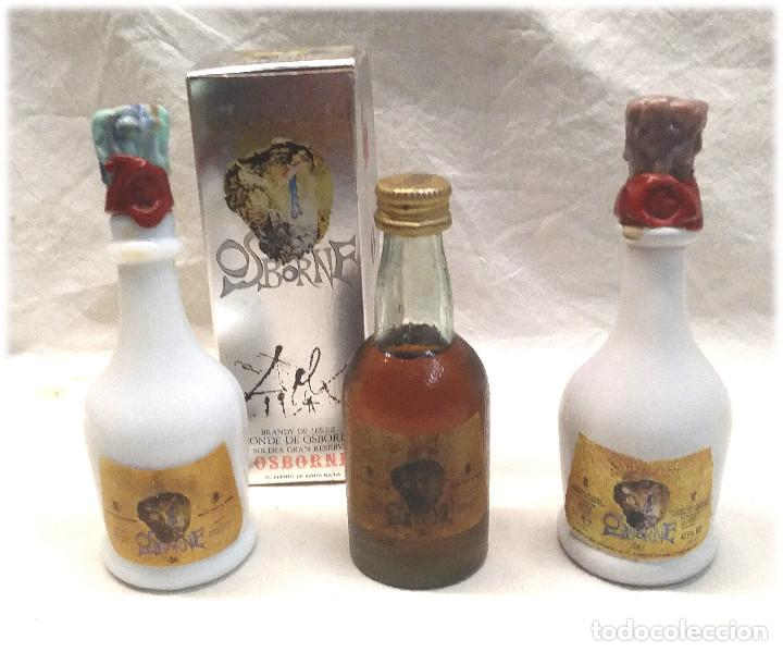 BRANDY OSBORNE DE DALI BOTELLINES (Coleccionismo - Botellas y Bebidas - Vinos, Licores y Aguardientes)