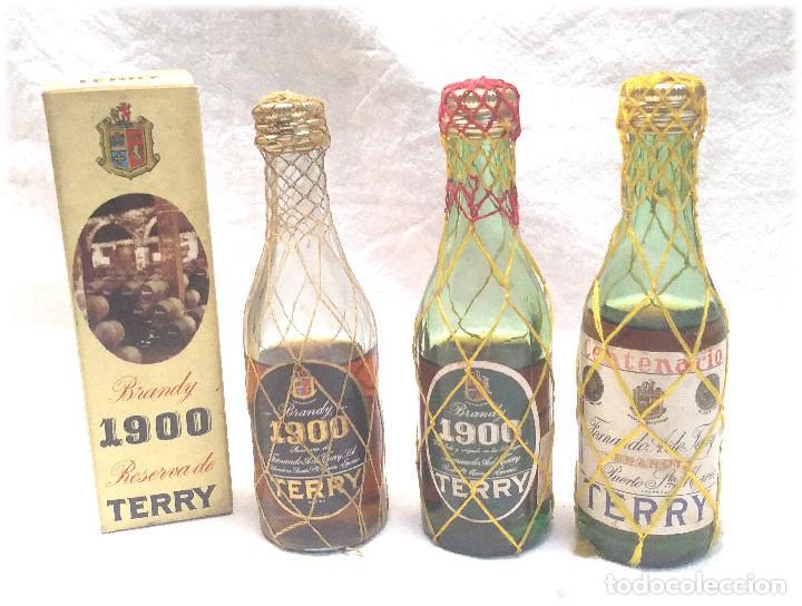 BRANDY TERRY 1900 CENTENARIO BOTELLINES (Coleccionismo - Botellas y Bebidas - Vinos, Licores y Aguardientes)