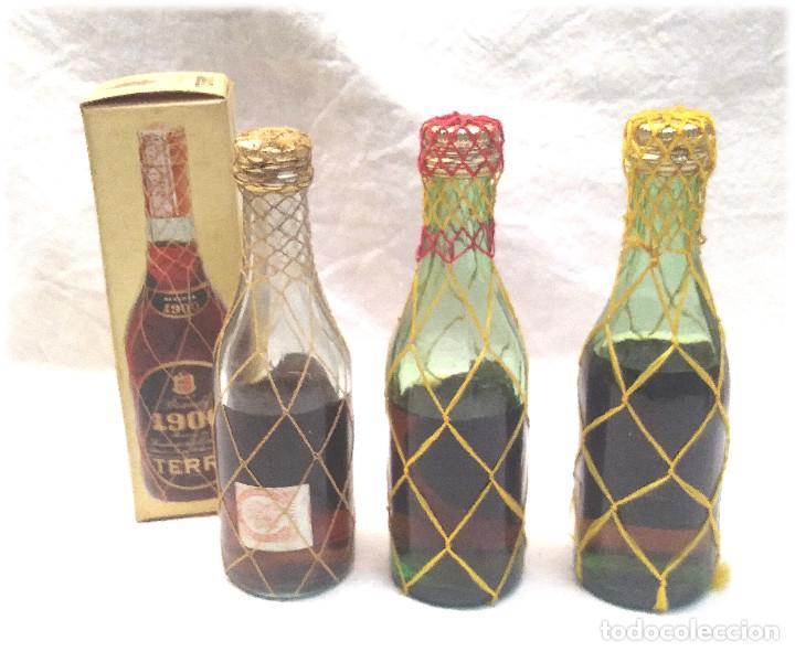 Coleccionismo de vinos y licores: Brandy Terry 1900 Centenario Botellines - Foto 2 - 236494540