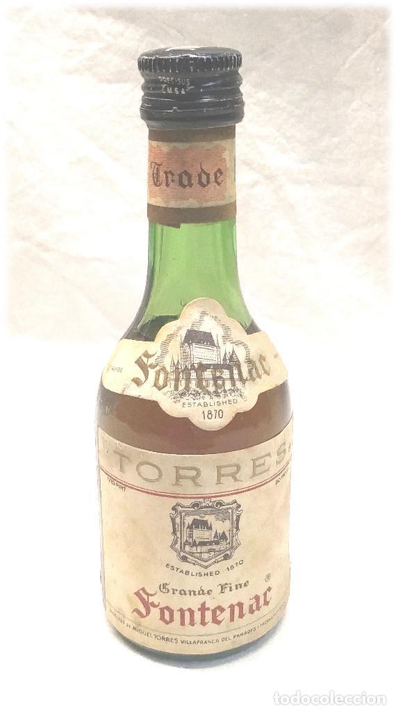 BRANDY FONTENAC TORRES BOTELLIN (Coleccionismo - Botellas y Bebidas - Vinos, Licores y Aguardientes)