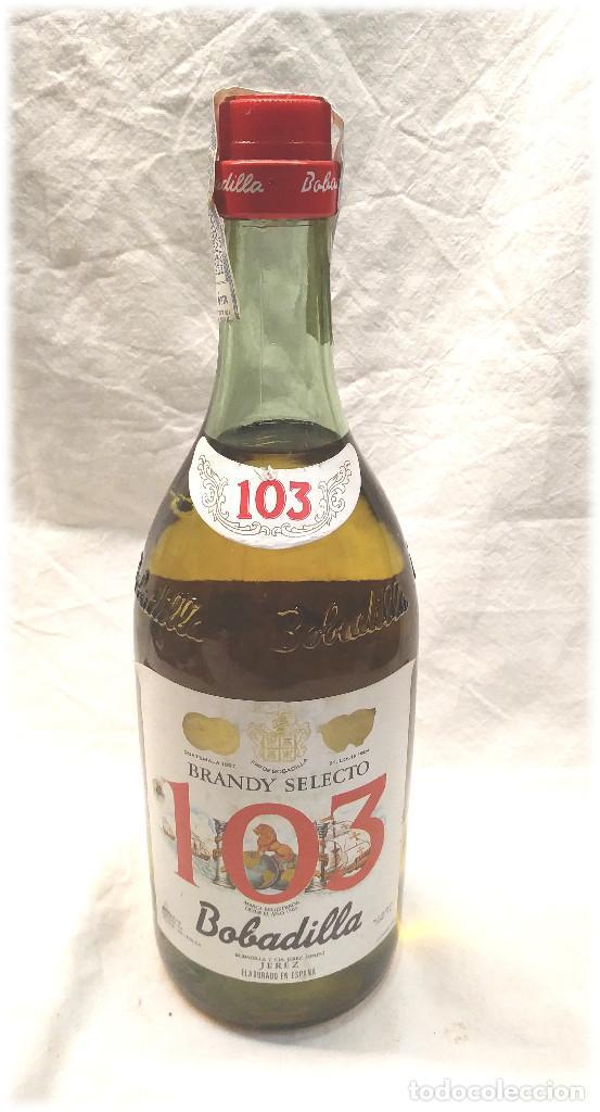 BRANDY SELECTO 103 BOBADILLA JEREZ (Coleccionismo - Botellas y Bebidas - Vinos, Licores y Aguardientes)