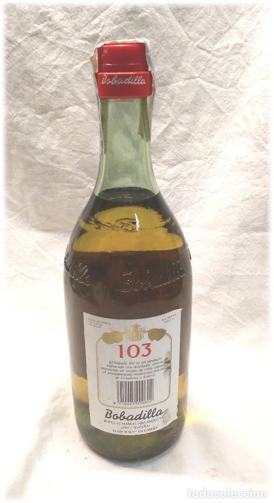 Coleccionismo de vinos y licores: Brandy Selecto 103 Bobadilla Jerez - Foto 2 - 236495145