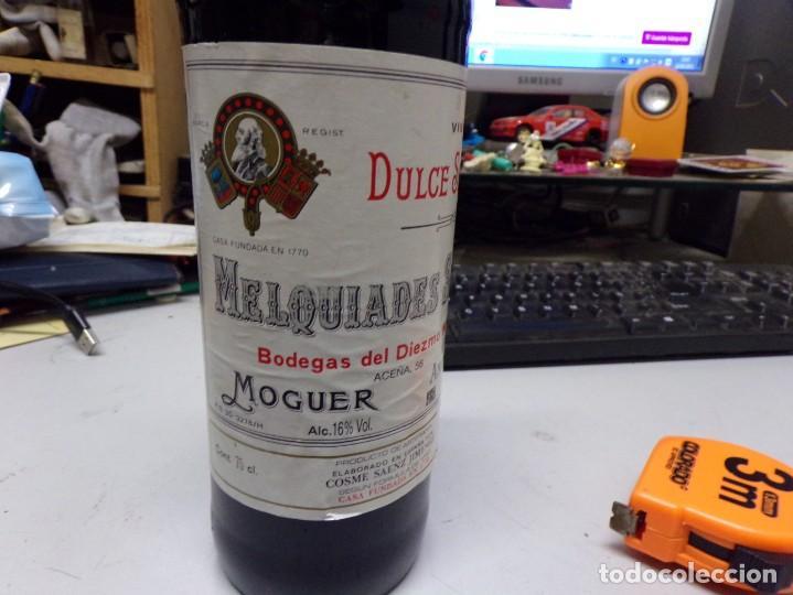 Coleccionismo de vinos y licores: perfecta botella vino melquiades saenz , moguer, andalucia - Foto 3 - 236508520