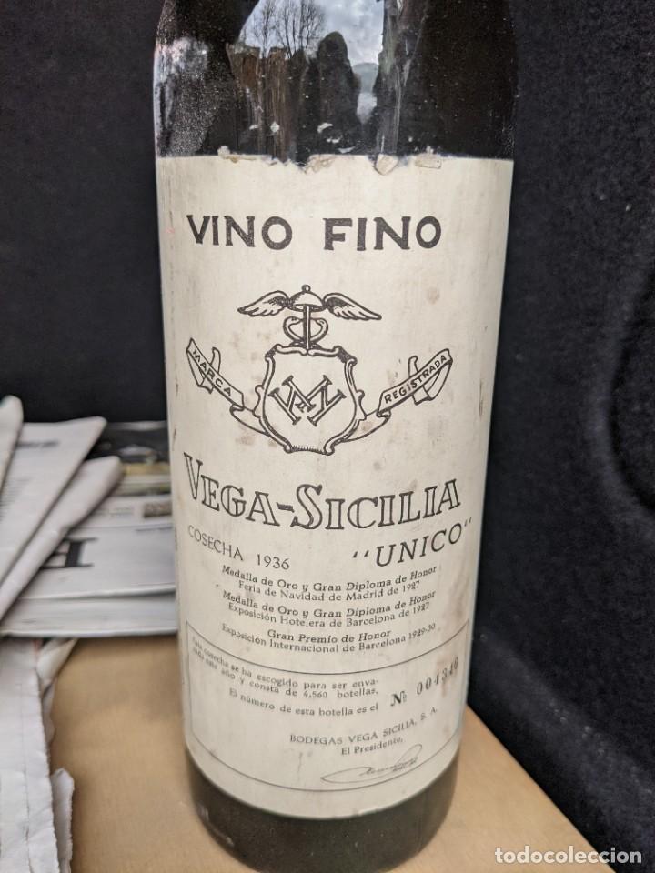 Coleccionismo de vinos y licores: Vega-Sicilia cosecha 1936. Vino Fino. Único. - Foto 6 - 234776205