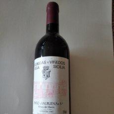 Coleccionismo de vinos y licores: BOTELLA DE VINO TINTO VALBUENA 5 AÑO. VEGA SICILIA. 1987. Lote 237647535