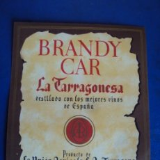 Coleccionismo de vinos y licores: (CHT-20)CHARTREUSE - ETIQUETA - BRANDY CAR. Lote 241377360