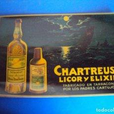 Coleccionismo de vinos y licores: (CHT-38)CHARTREUSE - CARTEL PUBLICITARIO - TRANSPARENTE. Lote 241383815