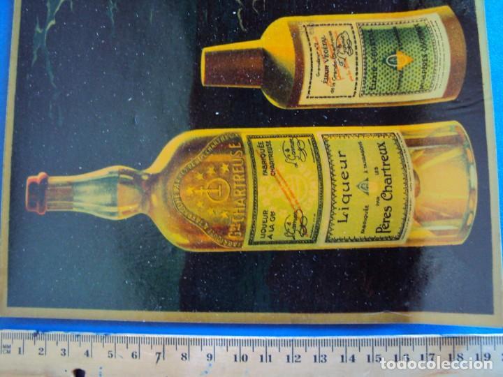Coleccionismo de vinos y licores: (CHT-38)CHARTREUSE - CARTEL PUBLICITARIO - TRANSPARENTE - Foto 3 - 241383815