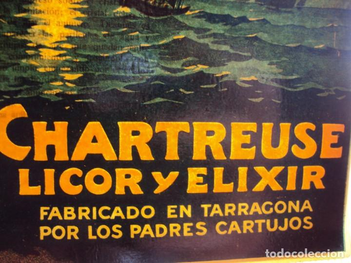 Coleccionismo de vinos y licores: (CHT-38)CHARTREUSE - CARTEL PUBLICITARIO - TRANSPARENTE - Foto 6 - 241383815
