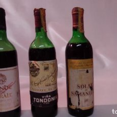 Collectionnisme de vins et liqueurs: LOTE DE 3 BOTELLAS DE VINO (DE COLECCIÓN) CONDE DE CARALT - VIÑA TONDONIA - SOLAR DE SAMANIEGO. Lote 244911250