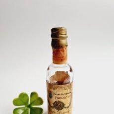 Coleccionismo de vinos y licores: BOTELLITA BRANDY CARLOS III VIDRIO 10.2CM BOTELLIN MINI BOTELLA MINIATURA. Lote 245150355