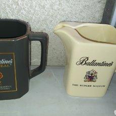 Coleccionismo de vinos y licores: DOS JARRAS DE WHISKY BALLANTINE'S.. Lote 245416480