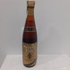 Coleccionismo de vinos y licores: ANTIGUA BOTELLA DE HABANA CLUB 7AÑOS PERFECTA 750CL.. Lote 246204965