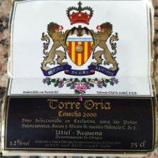 Coleccionismo de vinos y licores: ETIQUETA SIN PEGAR VINO TORRE ORIA COSECHA 2000. Lote 246996675
