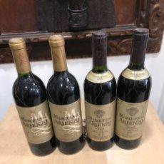 Coleccionismo de vinos y licores: MARQUÉS DE ARIENZO GRAN RESERVA LOTE DE 4 BOTELLAS. Lote 248999555