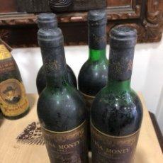 Coleccionismo de vinos y licores: RIOJA VIÑA MONTY GRAN RESERVA 1982 LOTE DE 4 BOTELLAS. Lote 249002940