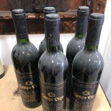Coleccionismo de vinos y licores: LOTE DE 5 BOTELLAS CAMPOVIEJO GRAN RESERVA 1989. Lote 249083775