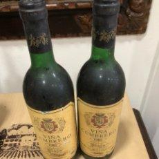Coleccionismo de vinos y licores: LOTE DE 2 BOTELLAS VIÑA CUMBRERO 1982. Lote 249091370