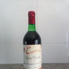 Coleccionismo de vinos y licores: CUNE /CVNE CLARETE QUINTO AÑO. BOTELLA DE VINO RIOJA.. Lote 250168435