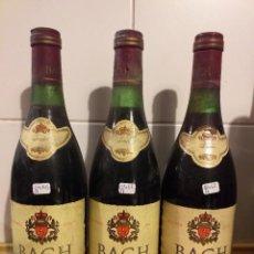 Coleccionismo de vinos y licores: 3 BOTELLAS DE VINO TINTO DE BACH AÑOS 1977 Y 1972. Lote 251534305