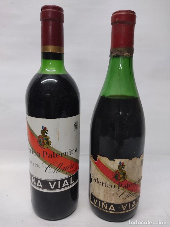 DOS BOTELLAS VINO. RIOJA. FEDERICO PATERNINA VIÑA VIAL . OLLAURI. SIN ABRIR (Coleccionismo - Botellas y Bebidas - Vinos, Licores y Aguardientes)