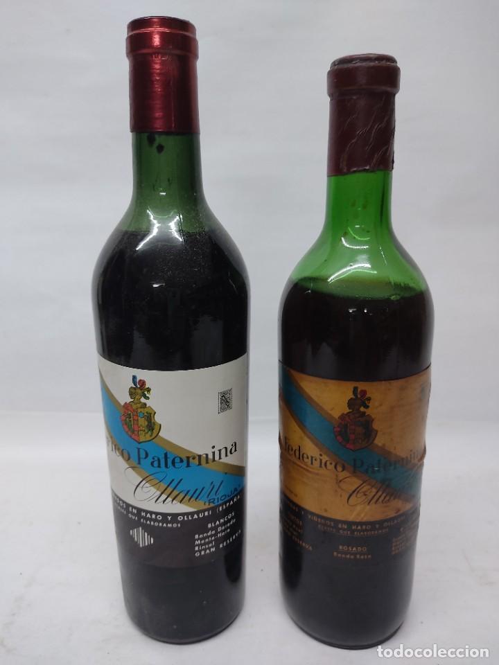 ANTIGUAS DOS BOTELLAS VINO. RIOJA. FEDERICO PATERNINA. OLLAURI. SIN ABRIR (Coleccionismo - Botellas y Bebidas - Vinos, Licores y Aguardientes)