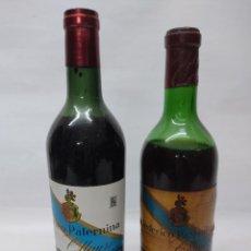 Coleccionismo de vinos y licores: ANTIGUAS DOS BOTELLAS VINO. RIOJA. FEDERICO PATERNINA. OLLAURI. SIN ABRIR. Lote 253143200