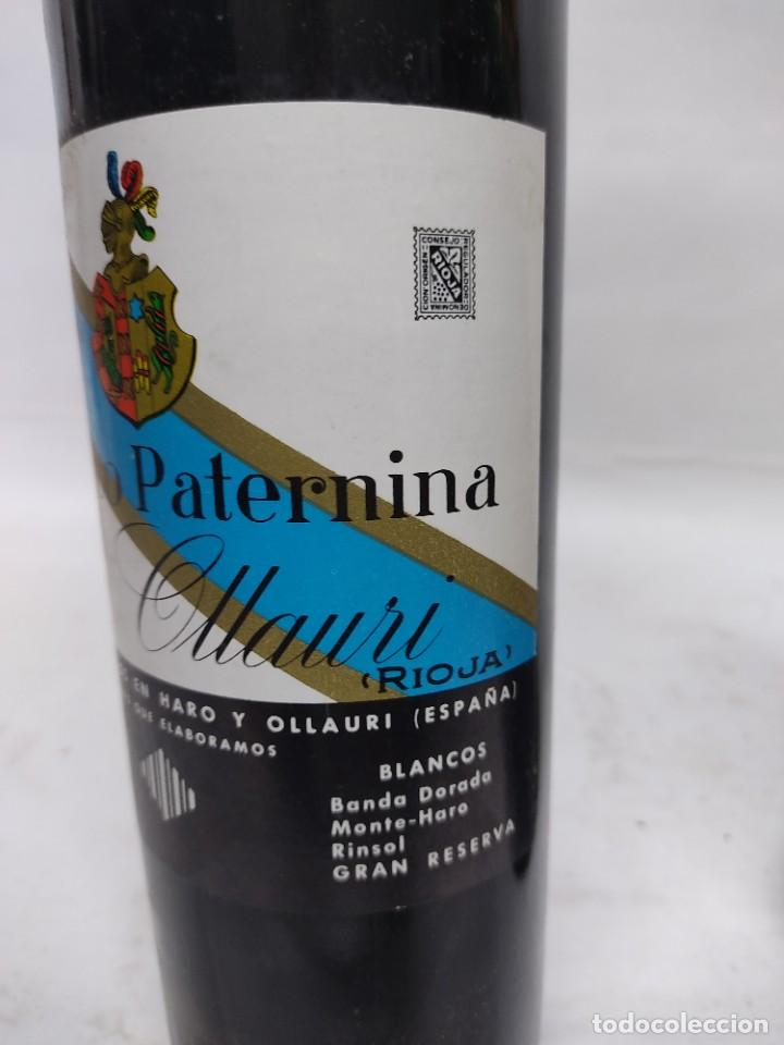 Coleccionismo de vinos y licores: ANTIGUAS DOS BOTELLAS VINO. RIOJA. FEDERICO PATERNINA. OLLAURI. SIN ABRIR - Foto 3 - 253143200