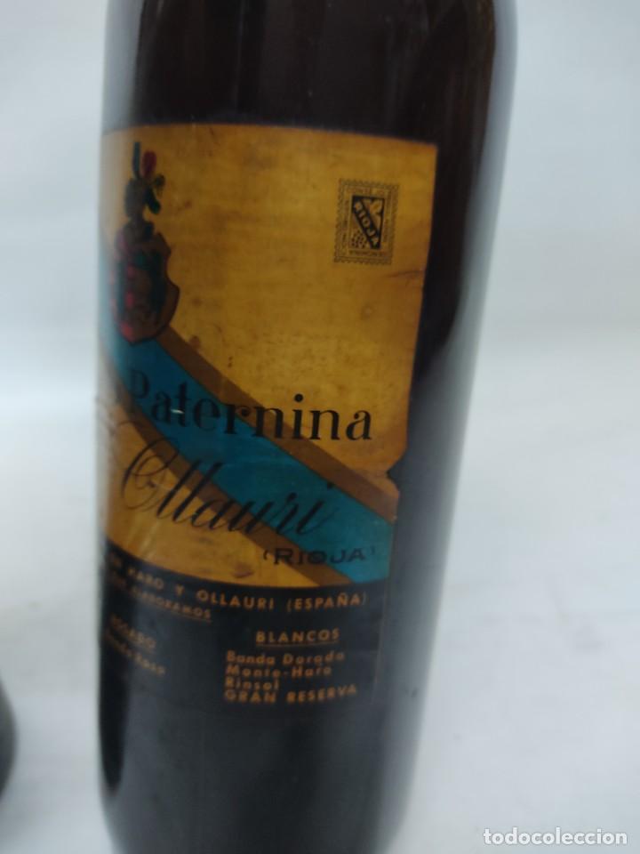 Coleccionismo de vinos y licores: ANTIGUAS DOS BOTELLAS VINO. RIOJA. FEDERICO PATERNINA. OLLAURI. SIN ABRIR - Foto 6 - 253143200