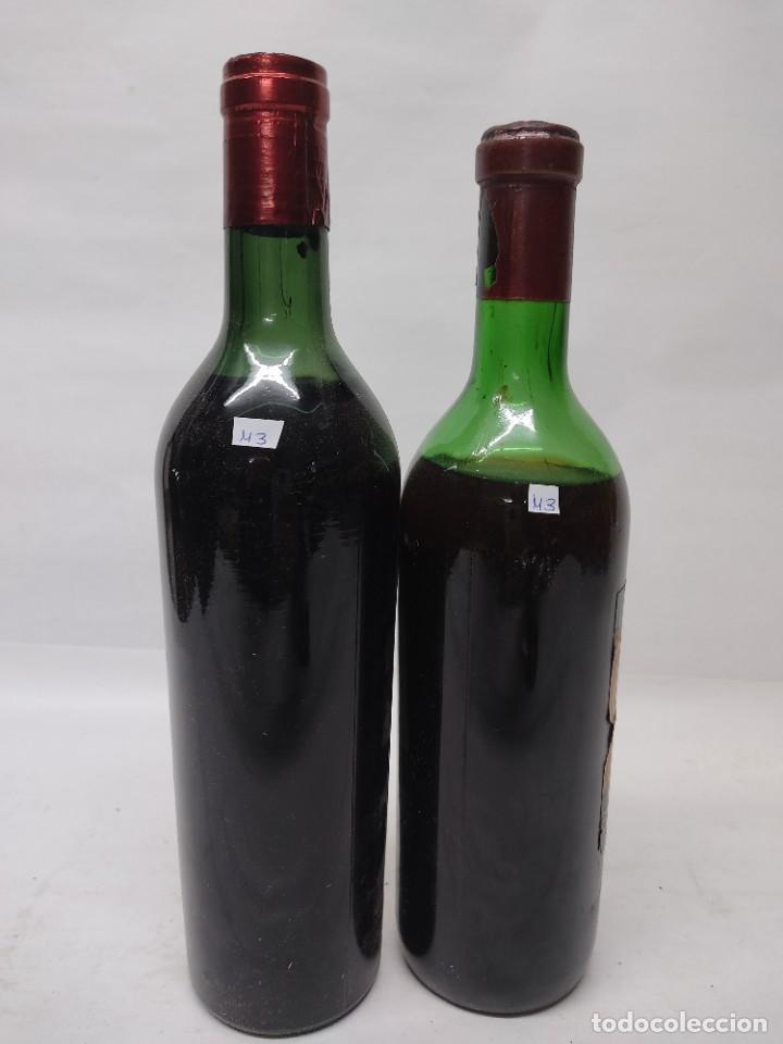 Coleccionismo de vinos y licores: ANTIGUAS DOS BOTELLAS VINO. RIOJA. FEDERICO PATERNINA. OLLAURI. SIN ABRIR - Foto 10 - 253143200
